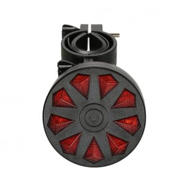 Mini Water-resistant 4 Modes Bike Bicycle Scooter Front Lights Taillight LED Rear Light Diamond-shape Light