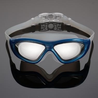 Unisex Adults Professional Glare-reducing Mirrored Coating Anti-Fog UV Protection Swimming Goggles Sports Eyewear Glass