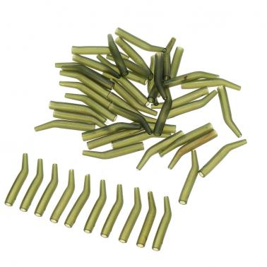 50Pcs/Lot Carp Fishing Hook Sleeve Hair Rig Line Aligner Sleeves Soft Anti Tangle Fishing Tackle Aligner Carp Fishing Ac