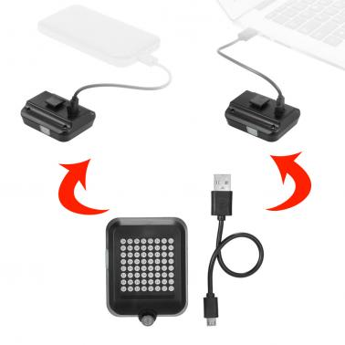 AQY 64 LED 80LM Intelligent  Safety Bicycle Taillight