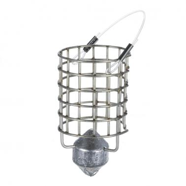 Stainless Steel Feeder Holder Fishing Lure Cage Fishing Trap Basket Feeder Bait Cage Fishing Bait Basket with Sinker 30g