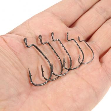 50pcs Assorted Fishing Hooks Set Box Sharpened Barbed Fishing Hook Mixed Size High Carbon Steel Fishing Gear Equipment A