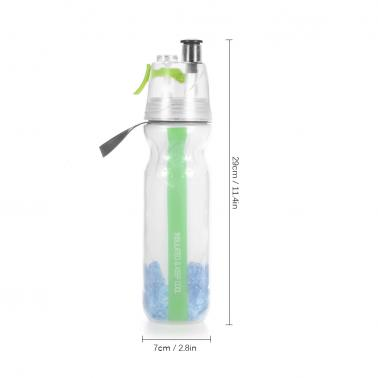 750ML Insulated Sports Spray Water Bottle Portable Spray Drinking Cup Plastic Spray Drinking Bottle for Outdoor Hiking C