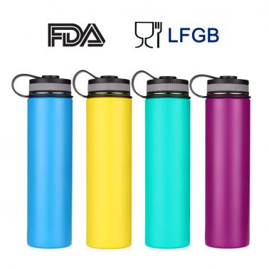 750ml / 26oz Outdoor Double Wall Stainless Steel Vacuum Insulated Sports Flask Water Bottle