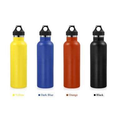 750ml / 26oz Stainless Steel Water Bottle Double Walled Vacuum Insulated Metal Water Bottle Travel or Gym BPA Free with