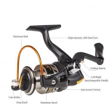 Lixada Telescopic Fishing Rod and Reel Combo Full Kit Spinning Fishing Reel Gear Organizer Pole Set