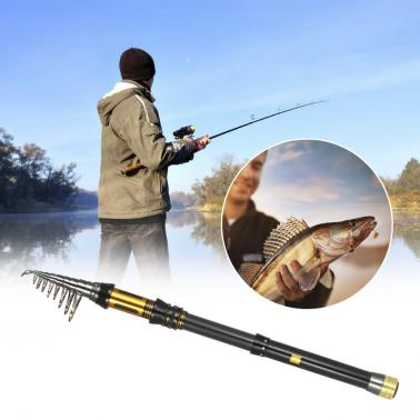 Fishing Rod Portable Fishing Poles Telescopic Fishing Rods Retractable Spinning Fishing Pole Travel Fishing Tackle
