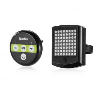64 LED Bike Warning Taillight Safety Warning Lamp Bike Cycling Turn Light Wireless Remote Bike Turn Signal Light