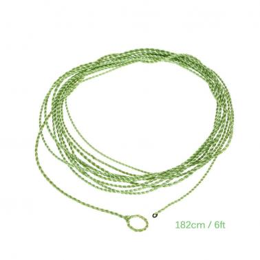6FT Fly Fishing Leader with Tippet Ring PET Furled Leader