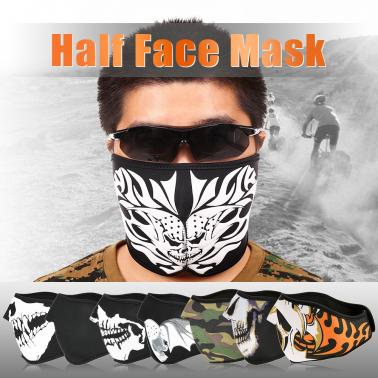 Breathable Half Mask Shield Face Mask for Cycling Mountaineering Skiing Outdoor Sports