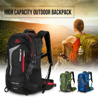 38L Outdoor Sports Backpack Traveling Hiking Camping Trekking Backpack Internal Frame Bag with Rain Cover