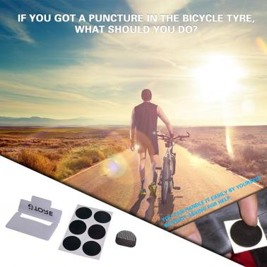 6pcs Quick Tire MTB Portable Free Repair Sheet Bike Tyre Cycling Accessories Patches Repairing Tool Black