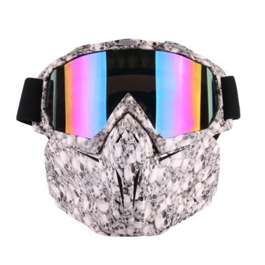 Motorcycle Helmet Riding Detachable Modular Face Mask Windproof Breathable Shield Goggles Outdoors