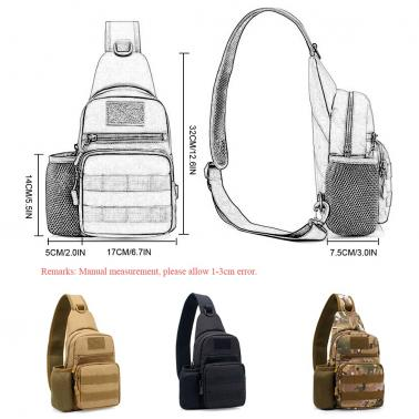 237e0b0b38fa ... Free Knight Outdoor Single Shoulder Bag Sling Chest Pack Molle Bag  Casual Crossbody Bag Travel Daypack ...
