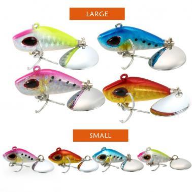 4cm / 25g Lifelike Fishing Lure Swimbait VIB Hard Bait Fish Treble Hook Tackle
