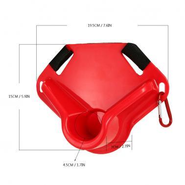 Adjustable Fishing Fighting Belt Waist Rod Holder Belt Enduring Fish Rod Supporter Boat Fishing Equipment Tackle