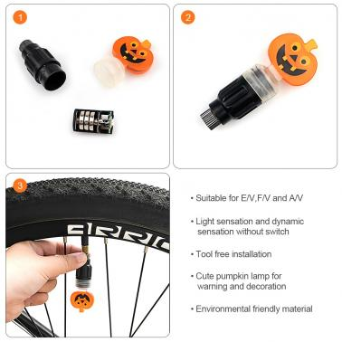 LED Bike Valve Light Bicycle Wheel Signal Light Cycling Bike Valve Lamp Bike Front Rear Valve Cap Light