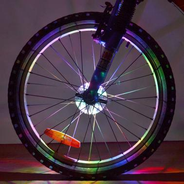 Rechargeable LED Bike Wheel Light Bicycle Wheel Spoke Light Cycling Bike Wheel Warning Lamp Bike Front Rear Hub Light