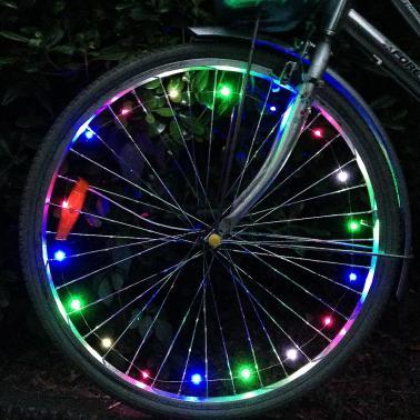 Rechargeable LED Bike Wheel Light Bicycle Wheel Tire Spoke Light Cycling Bike Wheel Warning Lamp Bike String Light Lamp