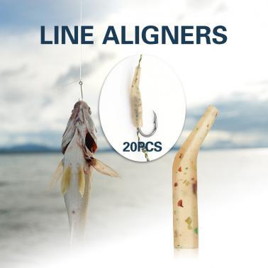 20PCS Line Aligners Fishing Lures Hook Aligners Anti-tangle Sleeves Carp Fishing Tackle Hook Rig Aligners Terminal Fishi