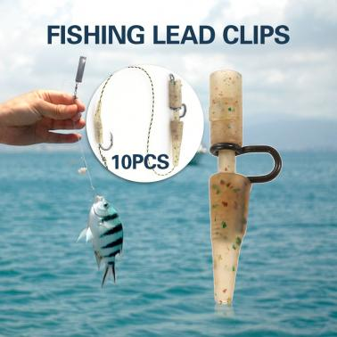 10PCS Safety Lead Clips Set with Pins Tail Rubber Tube Quick Change Clips Swivel Snap Connector  Carp Fishing Equipment