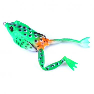 5PCS 5.5cm/15.5g Artificial Lure Topwater Simulation Fishing Lure Soft Bass Bait