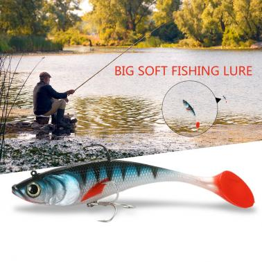 20cm 120g Big Soft Fishing Lure Lifelike Artificial Sea Boat Fish Tail Lures Swimbait Freshwater Saltwater Fishing Lures