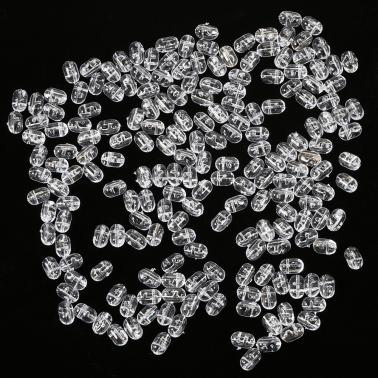 200PCS Fishing Beads Tranparent Double Cross Hole Beads Hard Clear Beads Sets Fishing Lures Hard Lures
