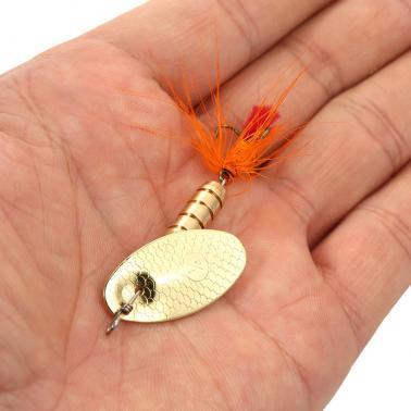4PCS Metal Sequins Fishing Hard Spinner Lure Spinnerbait Metal Fishing Lure Bass Fishing Lures Fly Fishing Hook