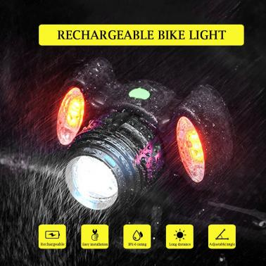 Rechargeable Bike Front Light Bicycle Cycling Headlight Bike Safety Light Flashlight Bike Lamp
