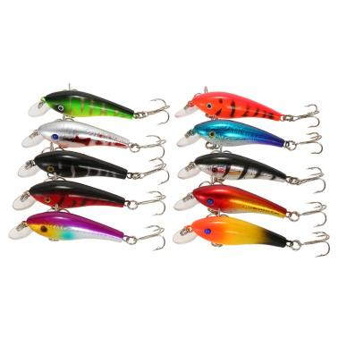 Pack of 68pcs Mixed Fishing Lure Set Kit Minnow Lures Crankbaits Artificial Hard Lure Bait Bass Carp Fishing Tackle