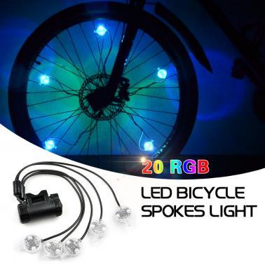 Bike Wheel Light String Ultra Bright LED Bicycle Tire Light Cycling Rim Lights LED Wheel Spoke Light String Strip Lamp