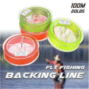 100M 20LBS Braided Nylon Fly Line Fly Fishing Backing Line