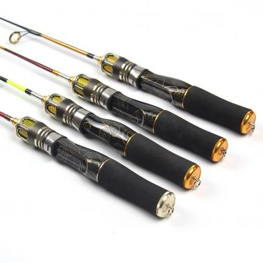 2 Sections Ice Fishing Rod Lightweight Fishing Rod Pole Portable Winter Short Fishing Rod