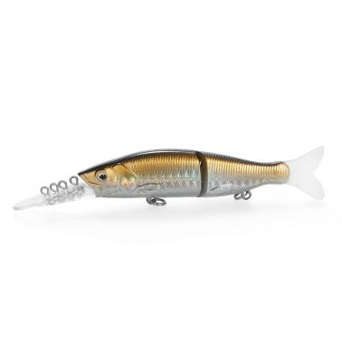 15.5cm / 14g Minnow Plastic Artificial Fishing Tools Jointed Fishing Lure Two Sections Fishing Bait High Imitation Swim