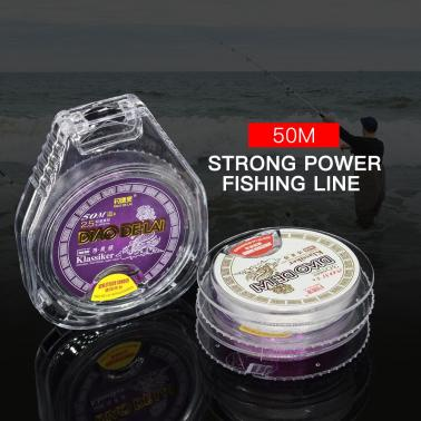 50M Fishing Line Monofilament Fishing Line Strong Abrasion Nylon Fishing Sub Main Line