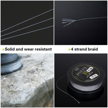 100M Fishing Line Strong Abrasion 4 Strands Braided Fishing Line PE Fishing Line