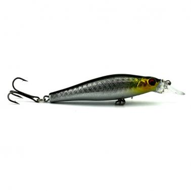 HENG JIA 5pcs Simulated Fishing Lures Plastic Pop Hard Minnow Wobblers Crankbait Baits with Triple Hooks Tools of Anglin