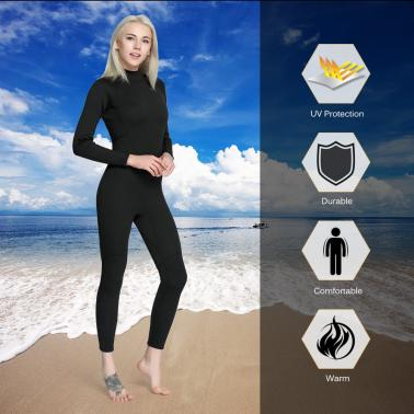 Men's 2mm Back Zip Full Body Wetsuit Swimming Surfing Diving Snorkeling Suit Jumpsuit