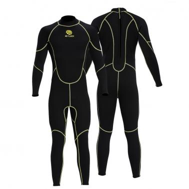 Men's 3mm Back Zip Full Body Wetsuit Swimming Surfing Diving Snorkeling Suit Jumpsuit