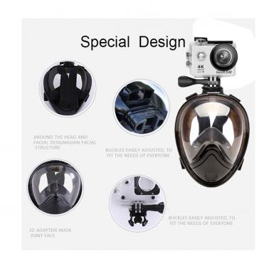 5th Generation Surface Full Face Detachable Dry Snorkeling Diving Mask