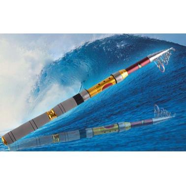 2.7M 8.86FT Portable Telescope Fishing Rod Travel Spinning Fishing Pole