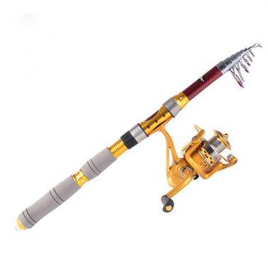 3m 9.84FT Portable Telescope Fishing Rod Travel Spinning Fishing Pole
