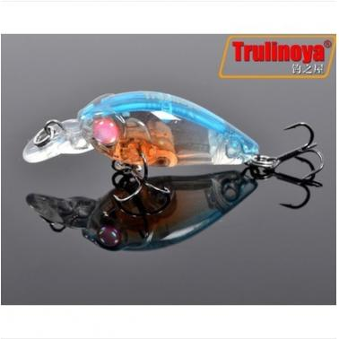 Trulinoya DW24 35mm 3.5g 1.2m Mini Crank Fishing Lure Hard Bait with BKK Hooks Blue