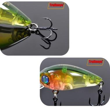 Trulinoya DW24 35mm 3.5g 1.2m Mini Crank Fishing Lure Hard Bait with BKK Hooks Green