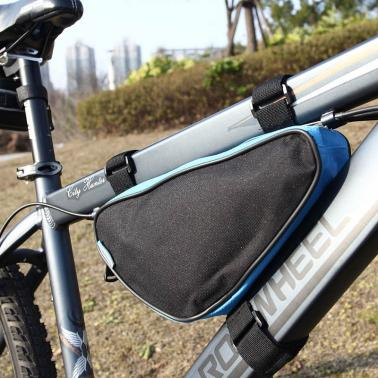 Roswheel Triangle Cycling Bicycle Front Tube Frame Bag Outdoor Mountain Bike Pouch 1.5L Black 12657
