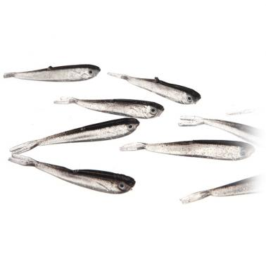 10Pcs 75mm 2.3g Soft Tiddler Baits Lures Fishing Tackle