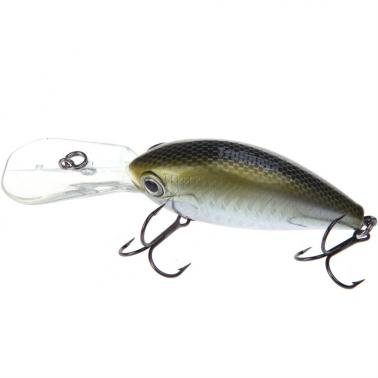 Trulinoya DW21 64mm 16.5g 2.5-3.2m Mini Crank Fishing Lure Hard Bait with VMC Hooks Golden