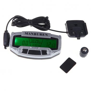 MANBUREN MS-602B Imported Sensors LCD Backlit Bicycle Speedometer Odometer Computer Rainproof
