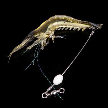 18cm 8g Artificial Fishing Lure Bionic Shrimp Soft Bait Fishing Tackle with Hook Noctilucent Luminous Night Glow Bead Bl